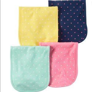 Carter's 4pk Over the Shoulder Burp Cloth Set